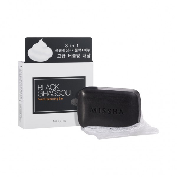 MISSHA Black Ghassoul Foam Cleansing Bar