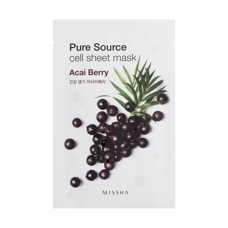 MISSHA_Pure_Source_Cell_Sheet_Mask_Acai_Berry1