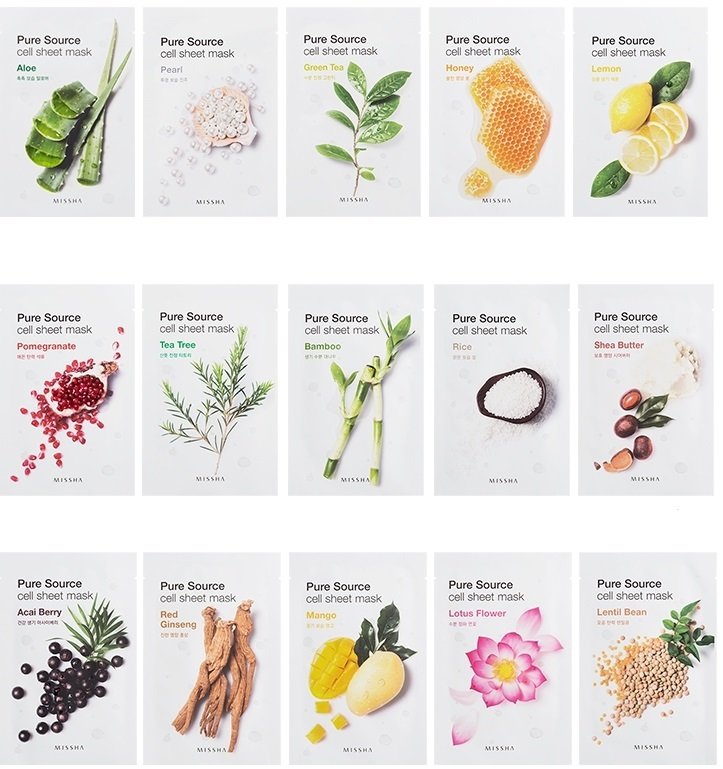 MISSHA_Pure_Source_Cell_Sheet_Mask_All