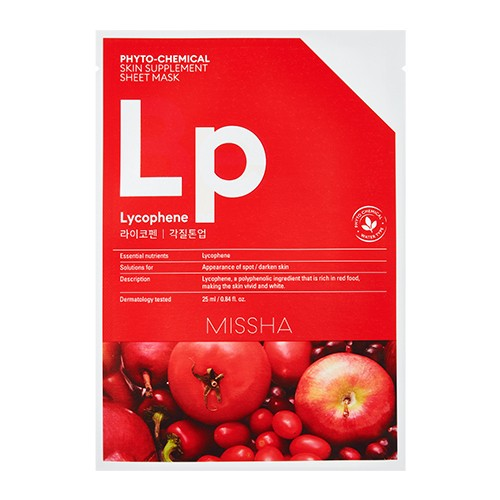 MISSHA Phytochemical Skin Supplement Sheet Mask (Lycophene/Peeling Tone Up)