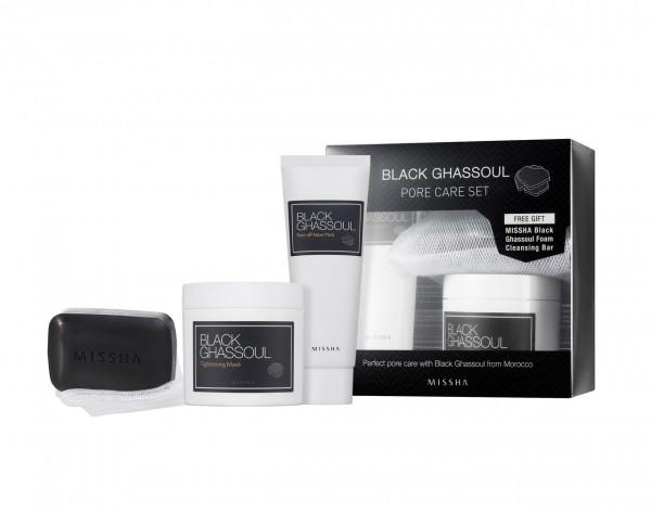 MISSHA Black Ghassoul Pore Care Set