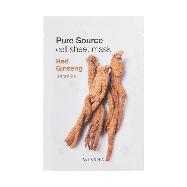 MISSHA_Pure_Source_Cell_Sheet_Mask_Red_Ginseng1