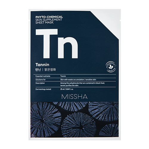 MISSHA Phytochemical Skin Supplement Sheet Mask (Tannin/Purifying)