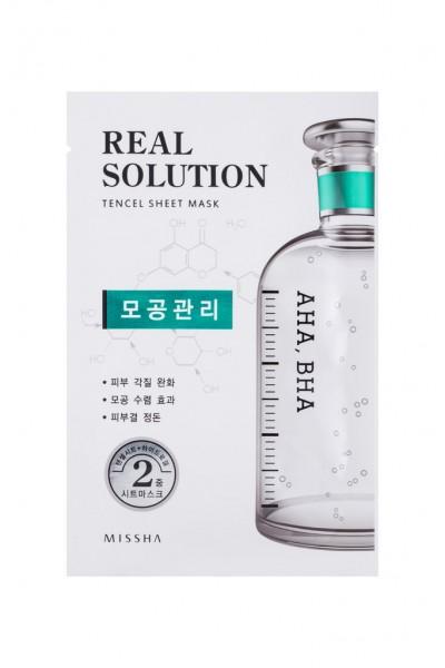 MISSHA Real Solution Tencel Sheet Mask (Pore Control) AHA, BHA