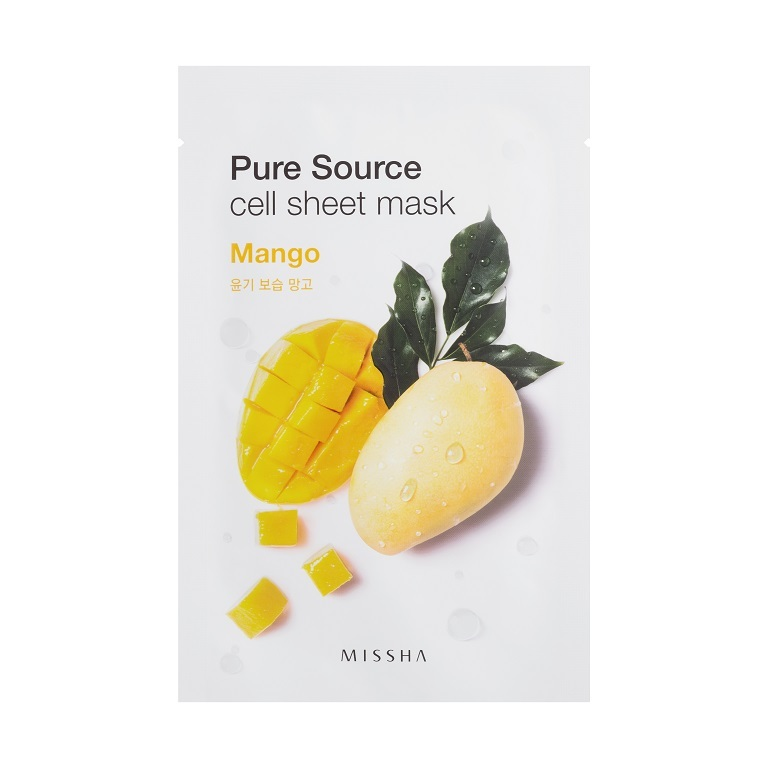 MISSHA_Pure_Source_Cell_Sheet_Mask_Mango1