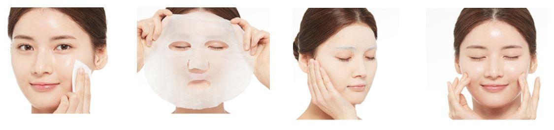 Tuchmasken-Anwendung